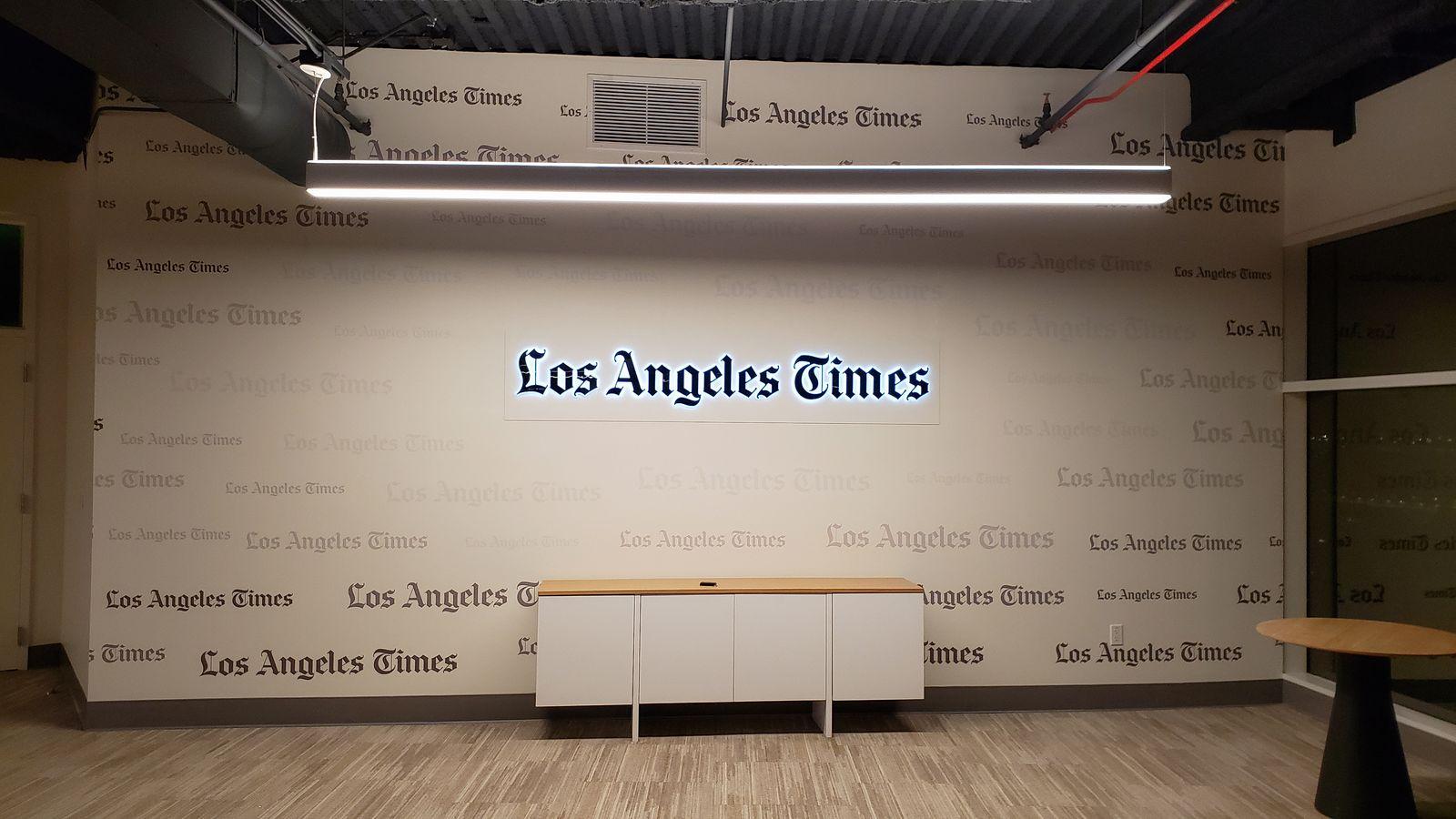 LA Times backlit letters