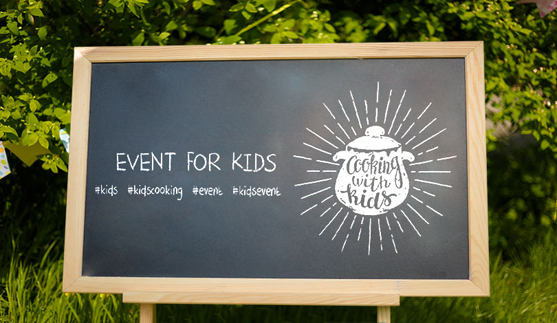 Event for kids event chalkboard sign idea
