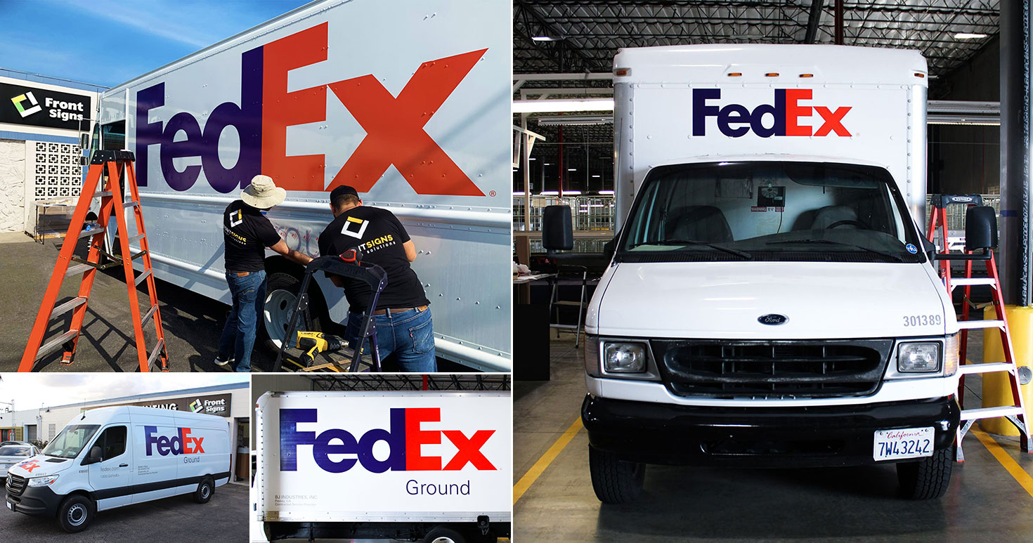 Fedex-van-wrap-car-decals---Front-Signs