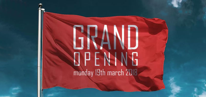 Grand Opening banner for outdoor event marketing