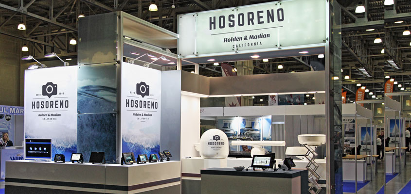 Horoseno branded trade show booth for corporate event branding