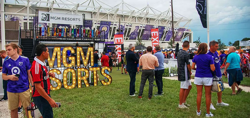 Inspiring outdoor event signage idea from MGM Resorts