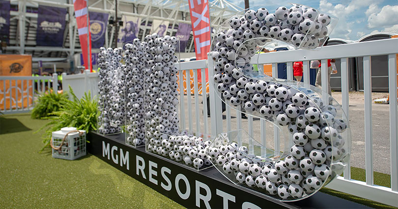 MLS MGM Resorts over-sized  event signage-FrontSigns