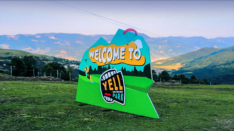 Welcome to Yell outdoor event branding solution-FrontSigns