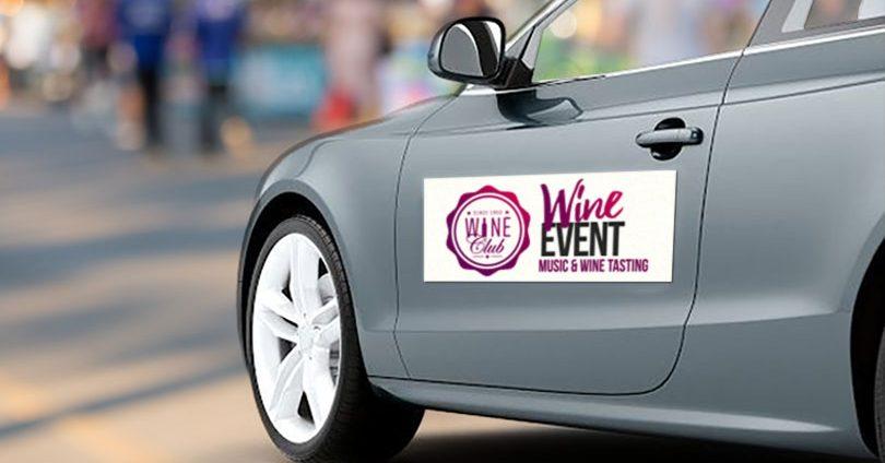 Wine Event car magnet