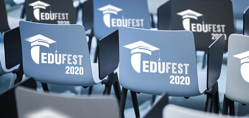 Event branding idea with branded event chairs from Edufest 2020