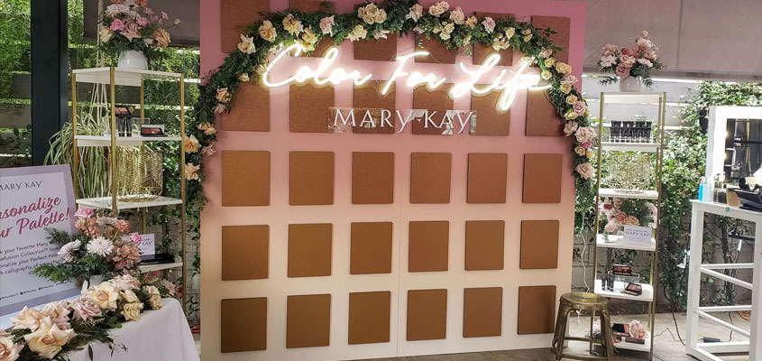 Mary Kay illuminated creative event branding concept