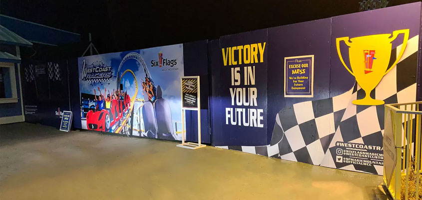 Sports event large-size wall prints for event branding