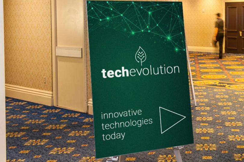 techevolution event coroplast board sign