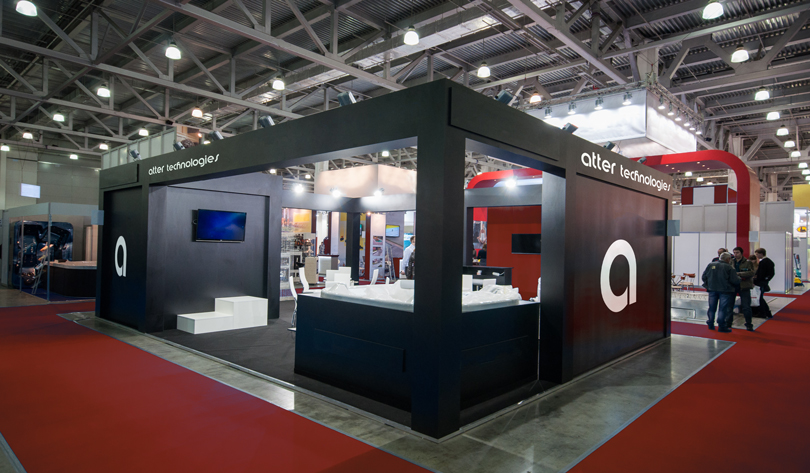 Atter Technologies trade show booth design example