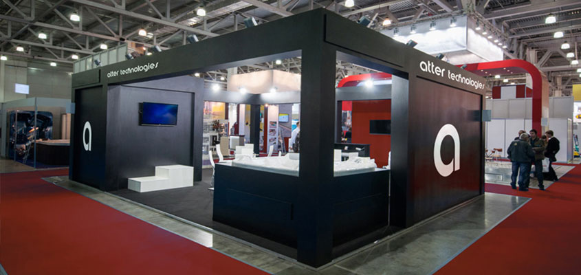 Atter Technologies trade show booth design concept for having a successful trade show booth event
