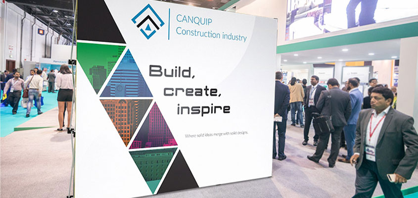 trade show booth design tip showcasing Canquip trade show booth