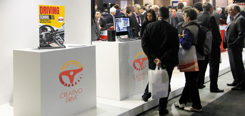 Creativo Drive trade show stand design concept for brand promotion