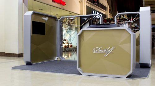 Davidoff booth display example-Frontsigns