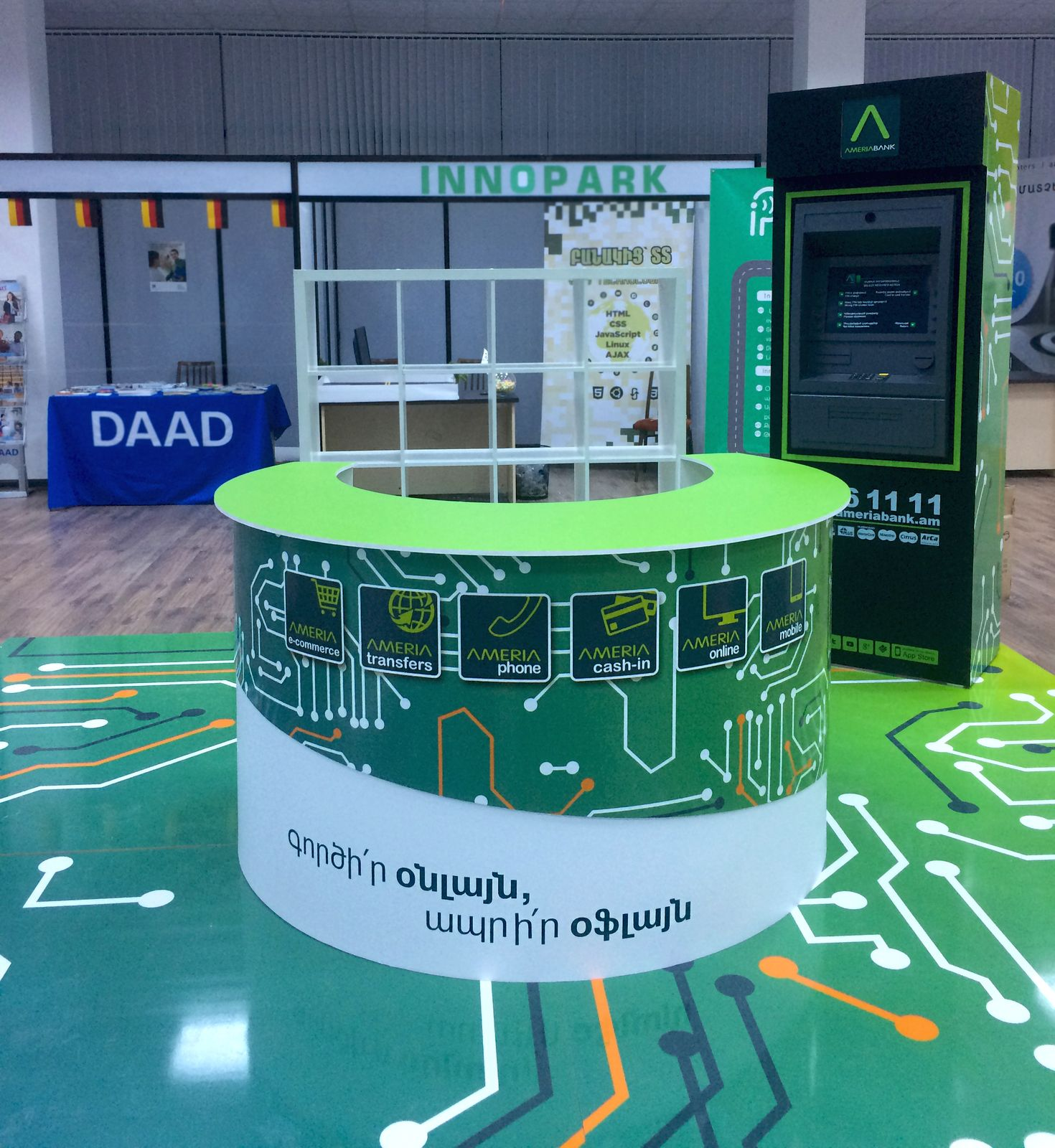 Innopark trade show booth display example-Frontsigns