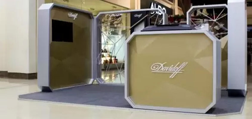 Davidoff branded stand design concept for having a successful trade show booth presentation