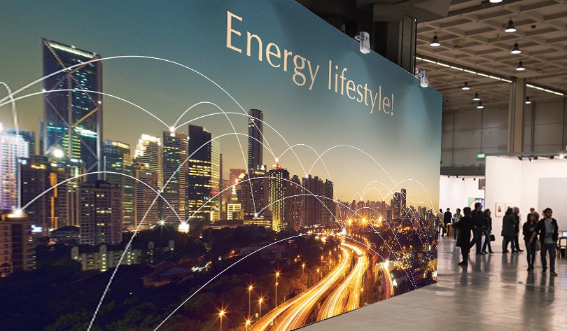 Energy Lifestyle trade show booth stand design example