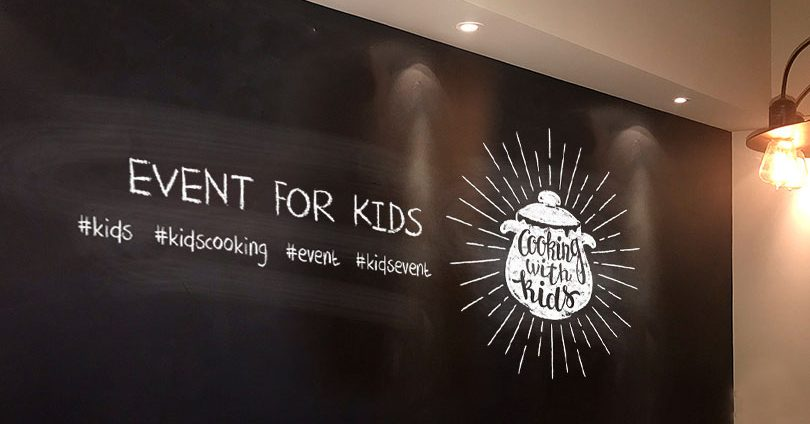 Event For Kids board with hashtags