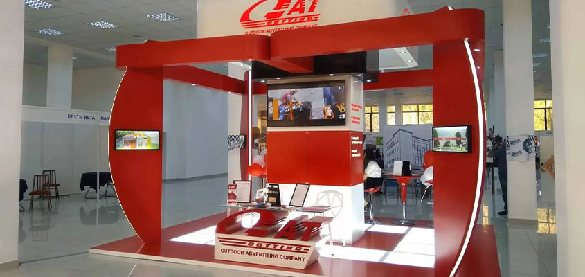 GAT Cutting trade show booth design concept