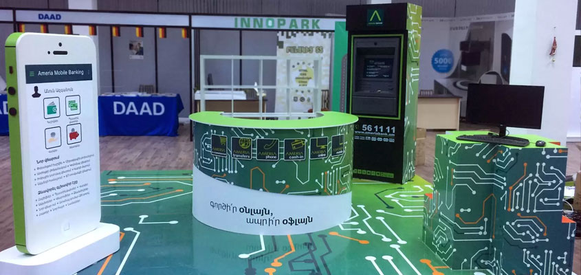 Innopark branded displays for trade show booth success