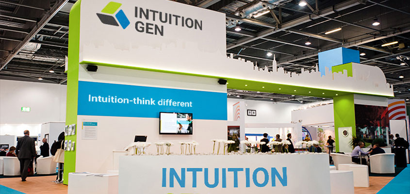 Intuition Gen trade show booth design concept