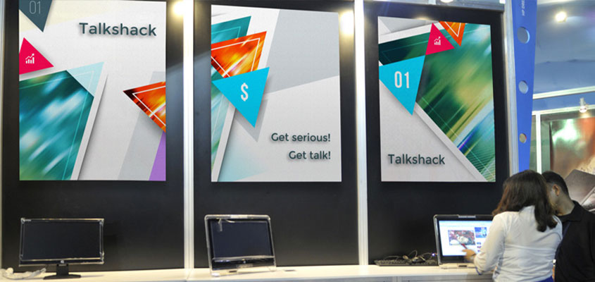 Talkshack trade show booth posters for success
