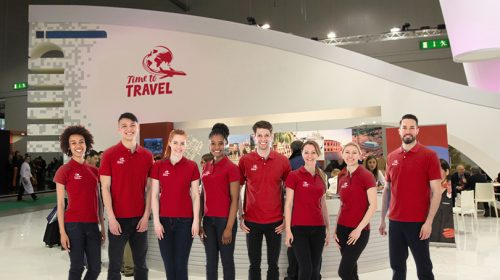 Time To Travel trade show staff
