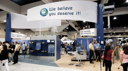 We Believe You Deserve It trade show booth strategy