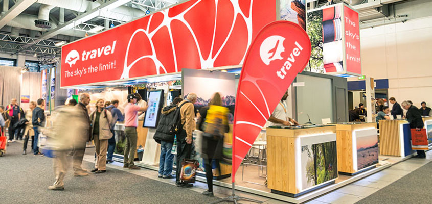 trade show branded banners design tip on an image example