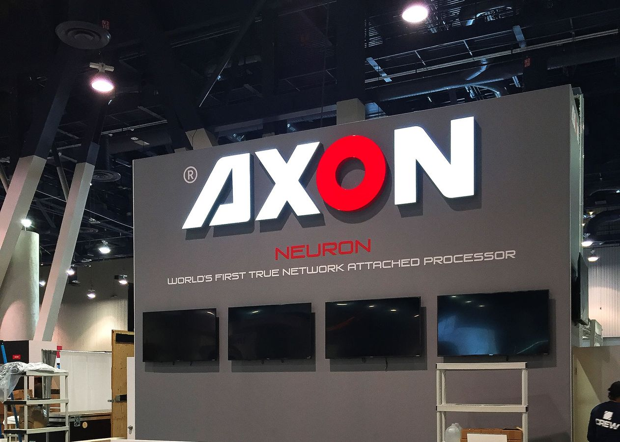 Axon light up sign