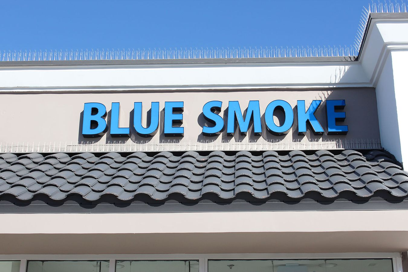 Blue Smoke channel letters
