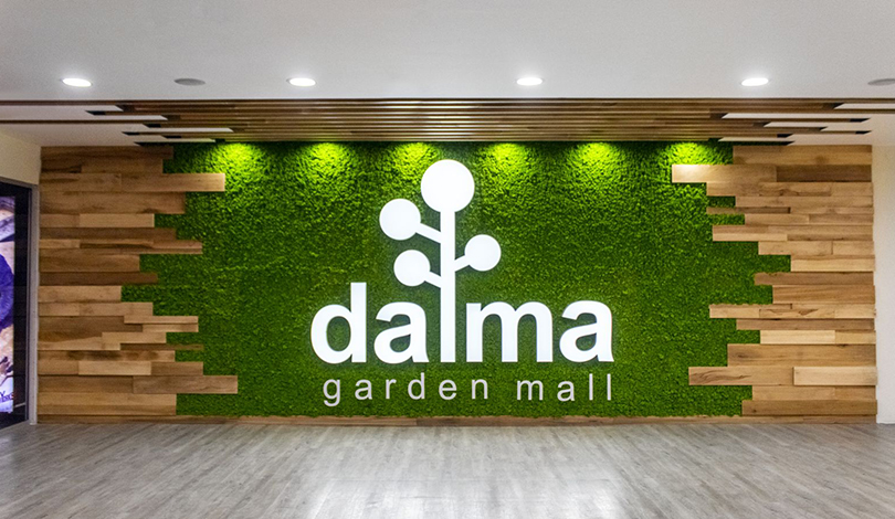 Dalma Garden Mall illuminated business logo-Frontsigns