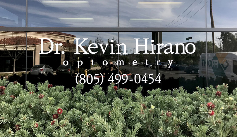 Dr. Kevin Hirano window business sign-Frontsigns