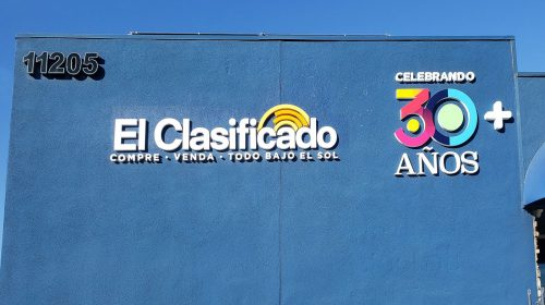 El Clasificado 3d signs painted in bright colors made of PVC for exterior branding