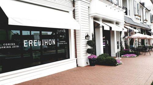 Erewhon window branding