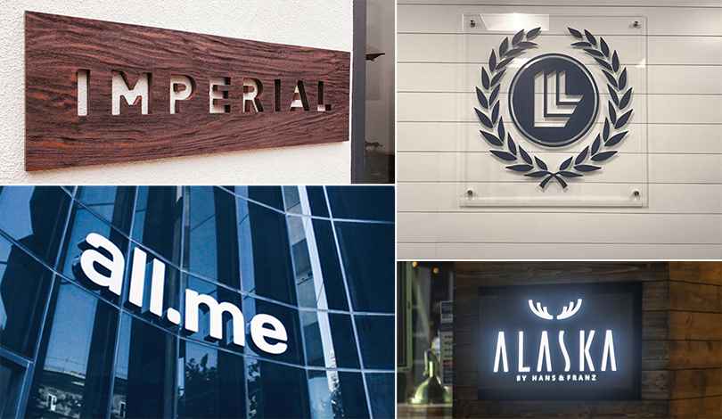 Imperial, All.me, Alaska business logos collage-Frontsigns
