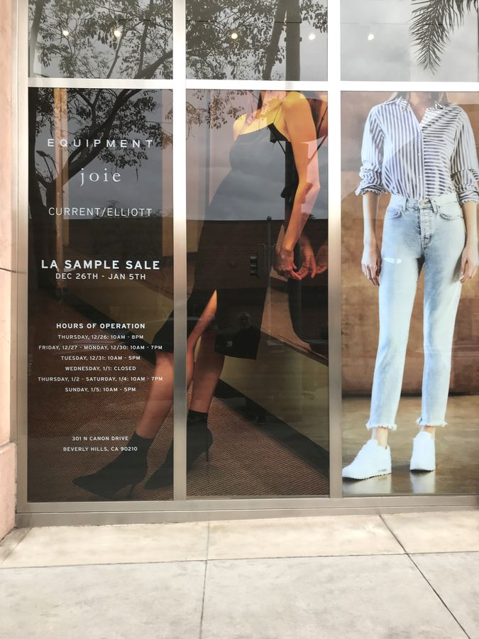 Joie storefront decal