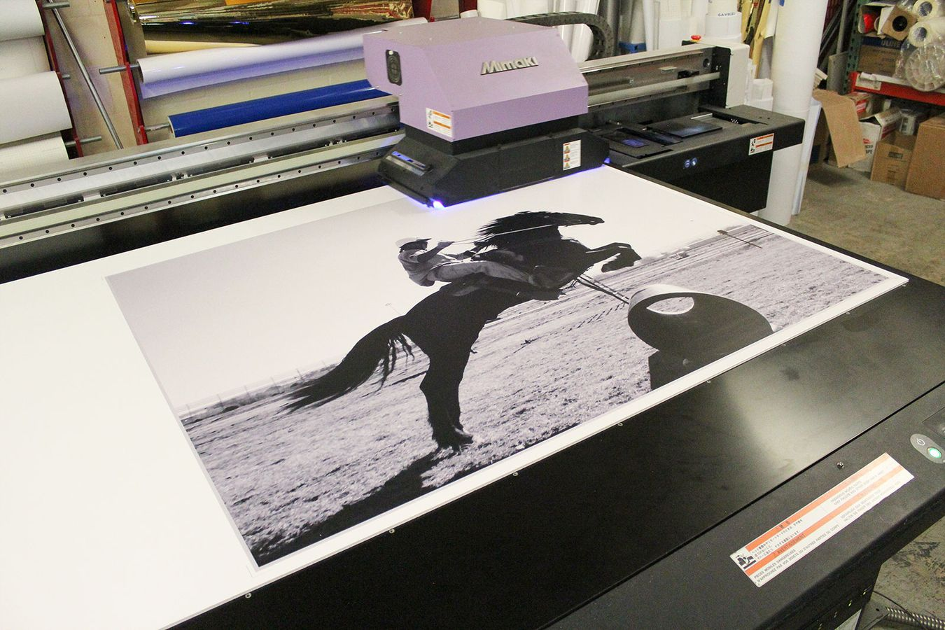 Large format printing on PVC