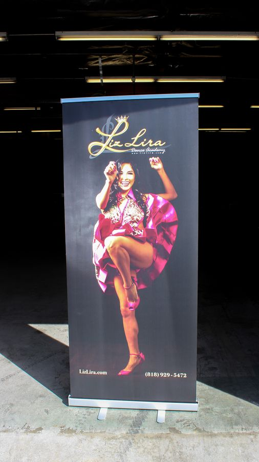 Liz Lira roll-up banner
