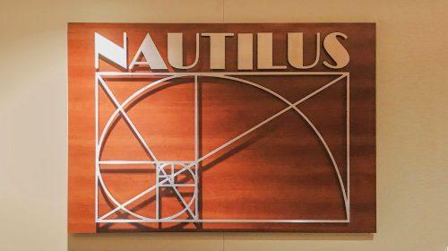 Nautilus 3D interior sign