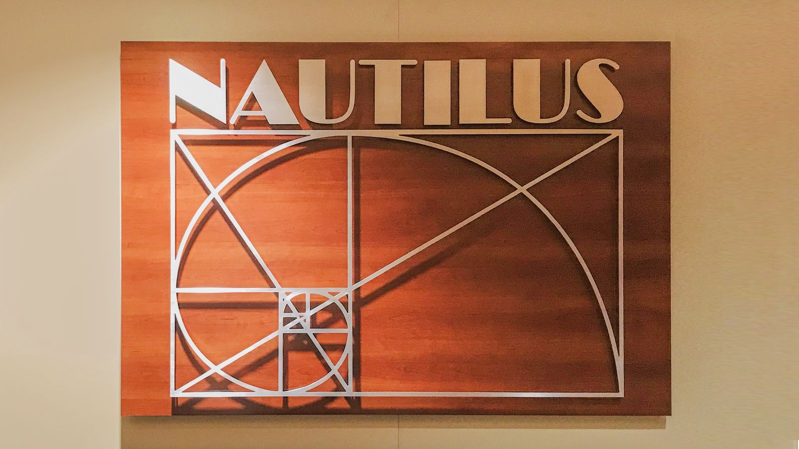 Nautilus 3D interior sign