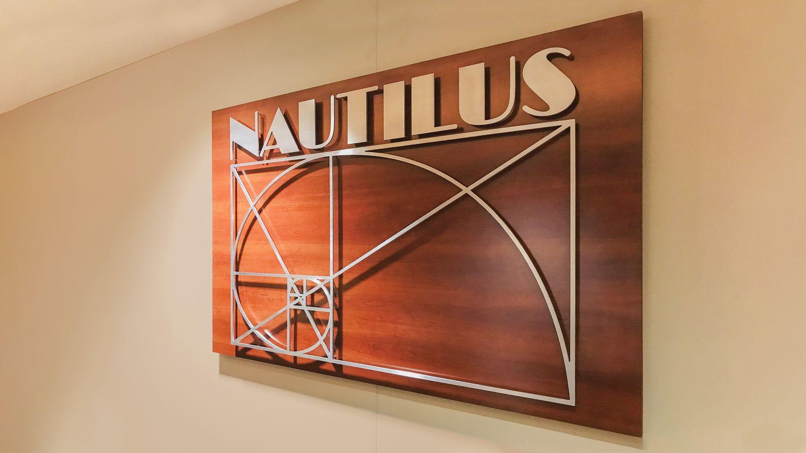 Nautilus wooden sign