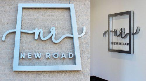 New Road exterior vs interior business logos-Frontsigns