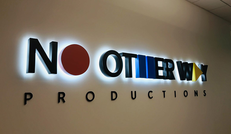 No Other Way backlit business logo-Frontsings