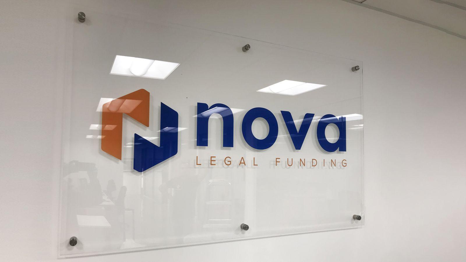 Nova office nameplate