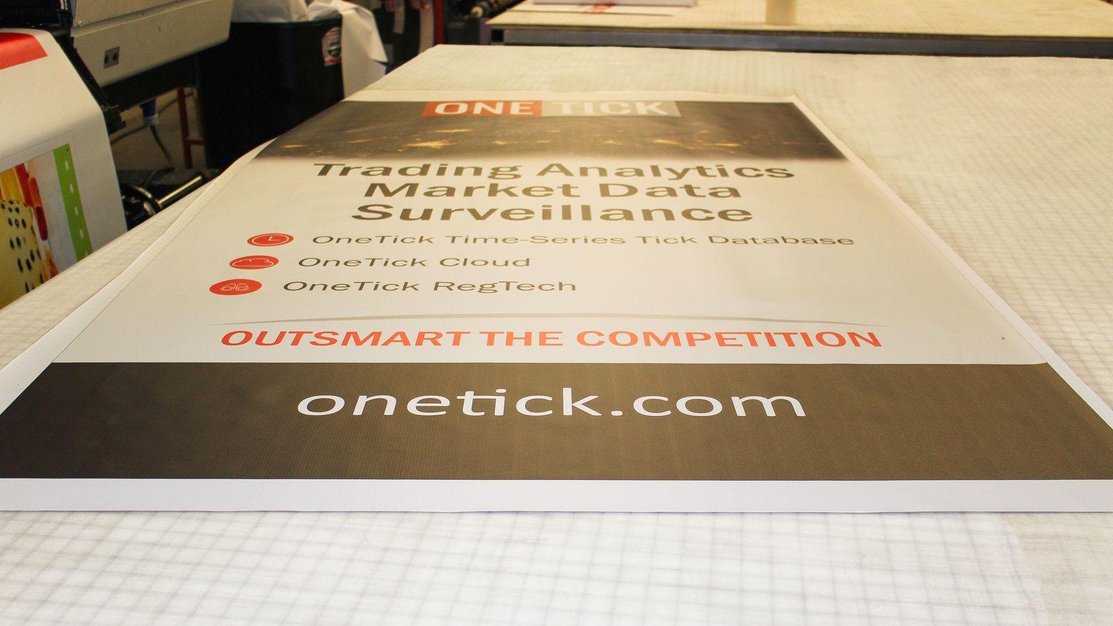 One Tick vinyl banner