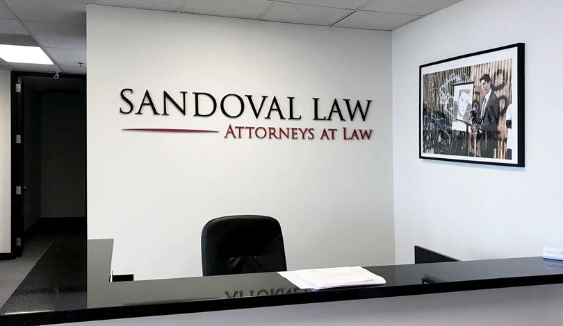 SANDOWAL LAW interior business logo-Frontsigns