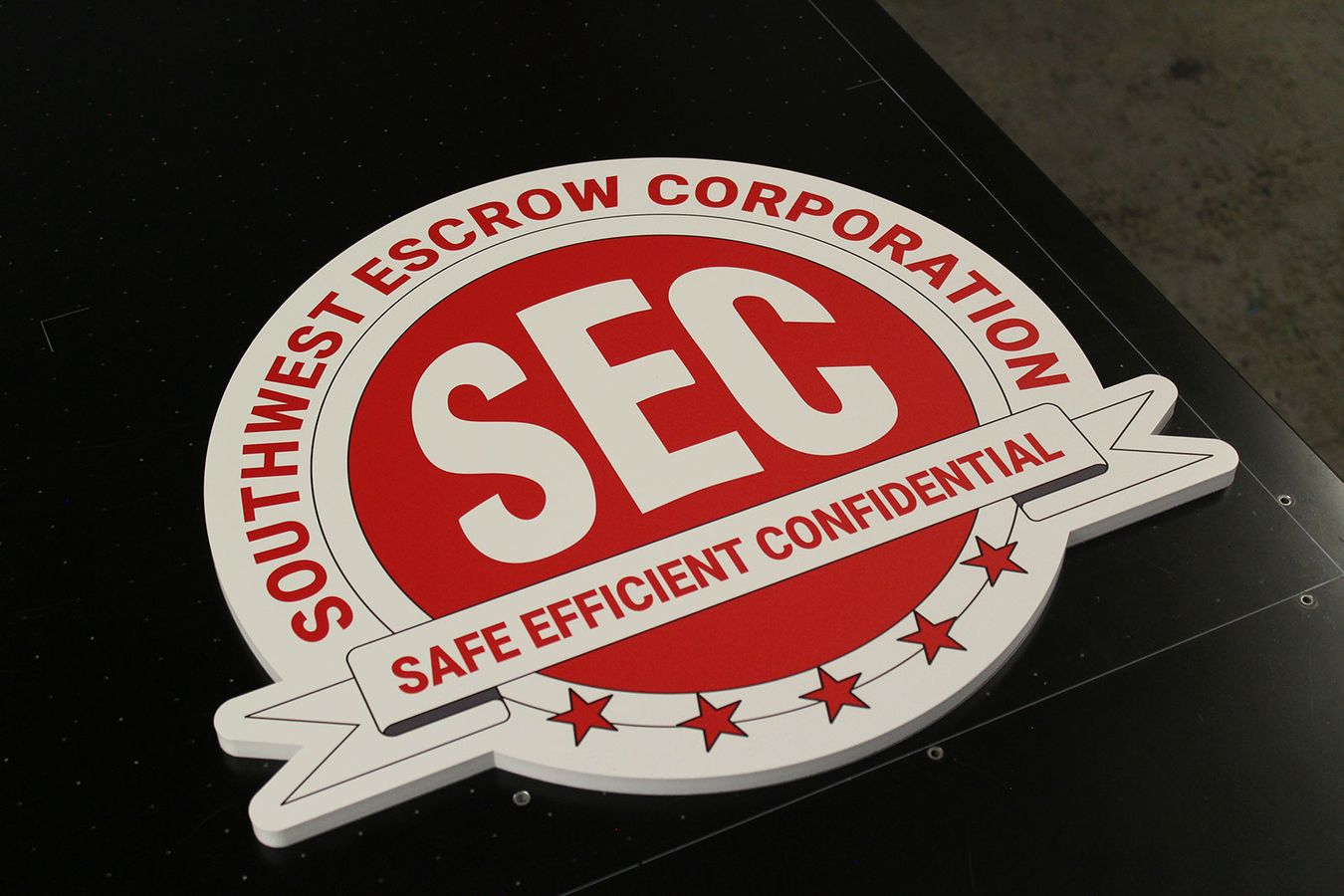 SEC acrylic logo sign