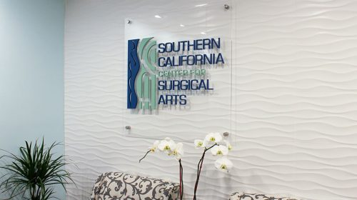 Southern California Center for Medical Arts acrylic sign-Frontsigns