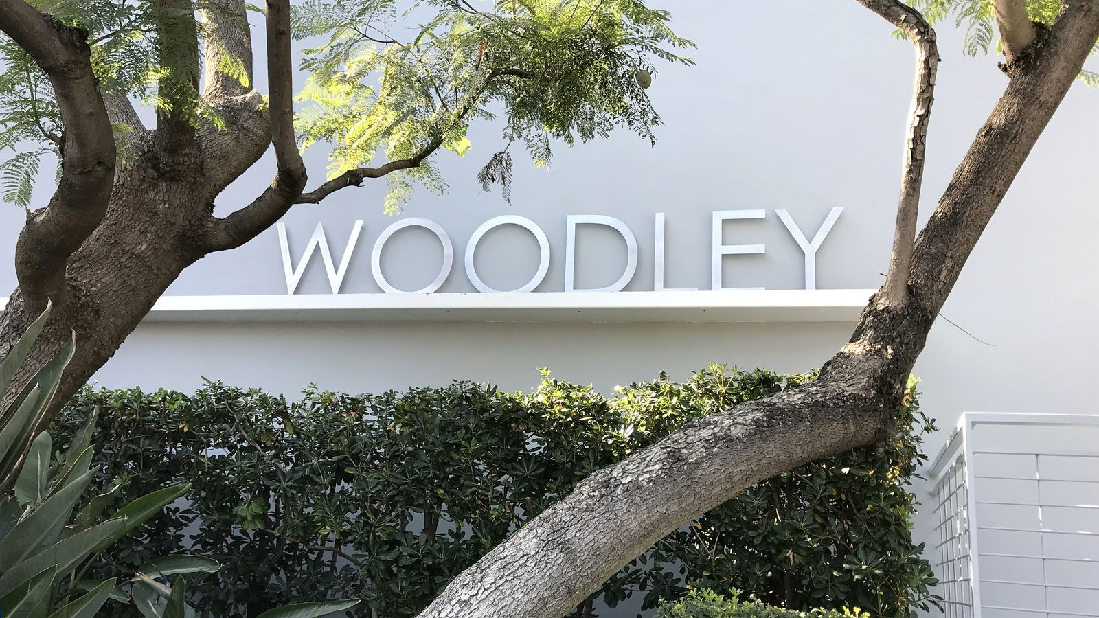 Woodley exterior letters